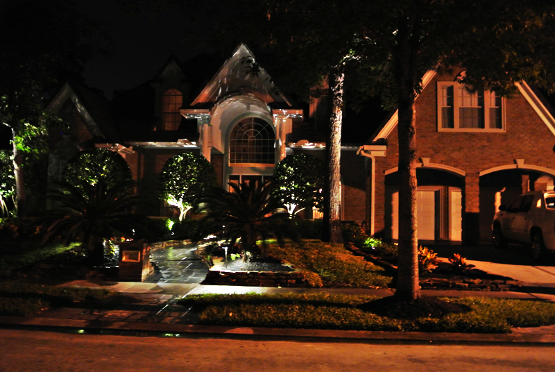 Landscape Lighting installation